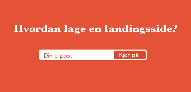hvordan lage en landingsside